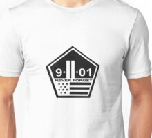 9-11 never forget Unisex T-Shirt