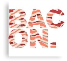 Bacon t-shirt Canvas Print