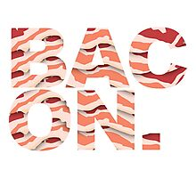 Bacon t-shirt Photographic Print
