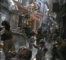 Ewoks at Diagon Alley by Montoria