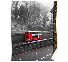 London Bus in Spring Poster