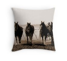Ploughing The Dust..... Throw Pillow