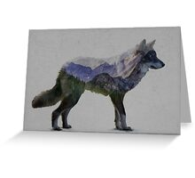 Mountain Wolf Greeting Card