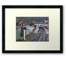 LLAGOLLEN RAILWAY STATION.  Framed Print