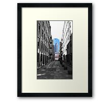 Alley in the North End Framed Print