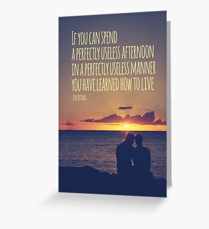 Sunset Couple Quote Greeting Card