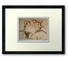 """Study of the Horses"" Framed Print"