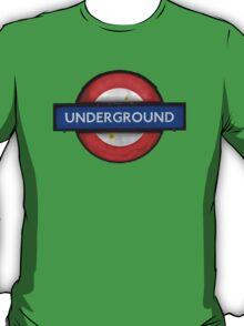 Isolated Grungy London Underground Sign T-Shirt