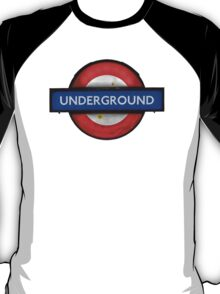 Isolated Grungy London Underground Sign T-Shirt