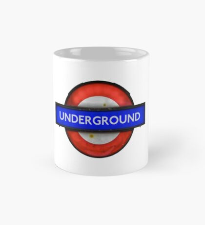 Isolated Grungy London Underground Sign Mug