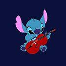 Stitch and a Cello dark blue  by eleanor89