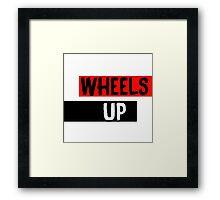 Wheels Up Framed Print