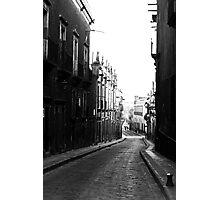 calle desierta Photographic Print