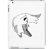 Sketch of a lying cat.  Black and white. iPad Case/Skin