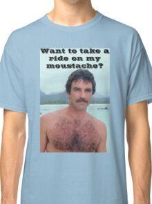 Selleck Moustache Ride Classic T-Shirt