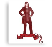 Lady Time Lord (Donna) Metal Print