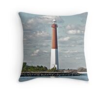 Barnegat Lighthouse - Barnegat NJ Throw Pillow