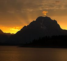 Sunset at Jackson Lake by Dennis Jones - CameraView
