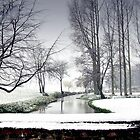 Snowfall at the River Wensum, North Norfolk by johnny2sheds