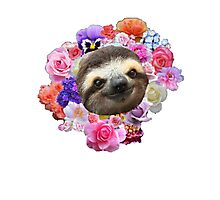 Floral Sloth Photographic Print