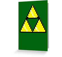 8 Bit Triforce pixel Greeting Card