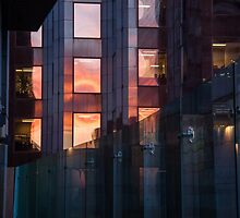 Downtown Sunset On Building, Toronto by Keith Vander Wees