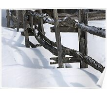 NC winter fence #2 Poster