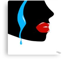 Tear in Blue Canvas Print