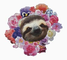 Floral Sloth by MisfitDemeanor