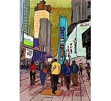 City Walkers Photographic Print