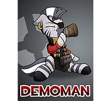 Demomare TF2 Pony Badge Photographic Print