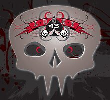 Lucky 13 Grunge Skull by MOC2