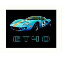 GT40 - Le Mans Art Print