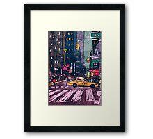 Hey Taxi Framed Print
