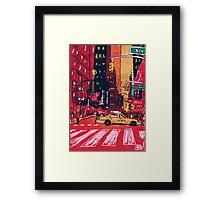 Summer Taxi Framed Print