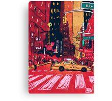 Summer Taxi Canvas Print