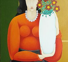 Woman with Vase  2007 by SACHA CIRCULISM