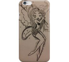 A sleeping fairy girl iPhone Case/Skin