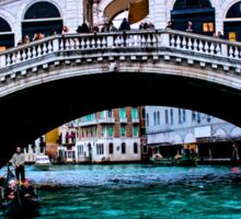 Rialto Bridge Venice December 2014 Sticker
