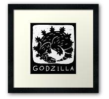 Godzilla is Cyclical Framed Print