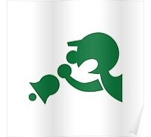 Game & Watch Symbol - Super Smash Bros. (green) Poster