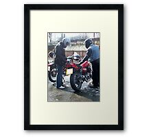 Two bikers Framed Print