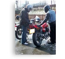 Two bikers Canvas Print
