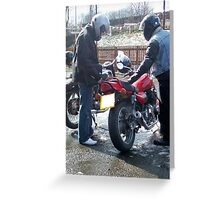 Two bikers Greeting Card