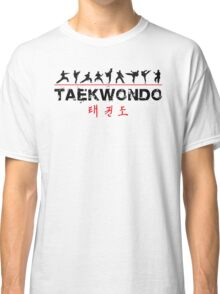 Taekwondo Text and Fighters Classic T-Shirt