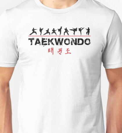 Taekwondo Text and Fighters Unisex T-Shirt