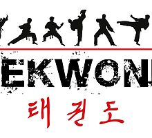 Taekwondo Text and Fighters by DCornel