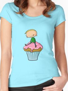 Cupcake Shirt Women's Fitted Scoop T-Shirt