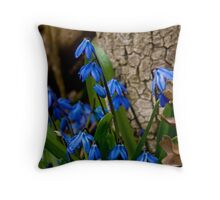 Siberian Squill - Scilla Throw Pillow