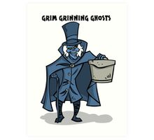 Grim Grinning Ghosts Art Print